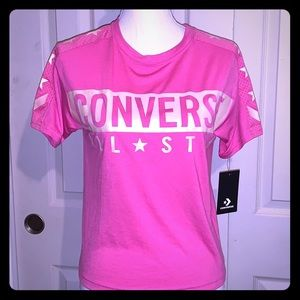 New with tags Cute Pink Converse T/Jersey